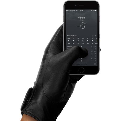 Кожаные перчатки Mujjo Leather Touchscreen Gloves для iPhone/iPod/iPad/etc (Размер 9)Перчатки для экрана<br>Mujjo Leather Touchscreen Gloves — это сочетание изысканного стиля и функциональности.<br><br>Цвет товара: Чёрный<br>Материал: Натуральная кожа, кашемир (подкладка)