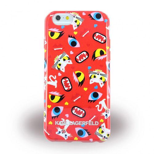 Чехол Karl Lagerfeld Monster для iPhone 6/6s (4,7) Красный коллажЧехлы для iPhone 6/6s<br>Чехол Lagerfeld Monster Choupette для iPhone 6 KLHCP6MCPRE Red<br><br>Цвет товара: Красный<br>Материал: Пластик