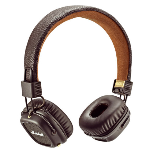 Наушники Marshall Major II Bluetooth коричневыеНакладные наушники<br>Легендарные наушники теперь с Bluetooth!<br><br>Цвет товара: Коричневый<br>Материал: Металл, натуральная кожа, пластик