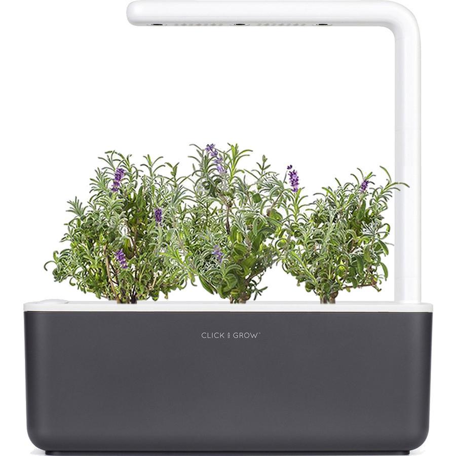 Умный сад Click and Grow Smart Garden 3 Лаванда (чёрная крышка)Умные сады и фермы<br>В системе Умный сад от Click and Grow есть все, что необходимо для нормального роста растения.<br><br>Цвет товара: Чёрный<br>Материал: Пластик