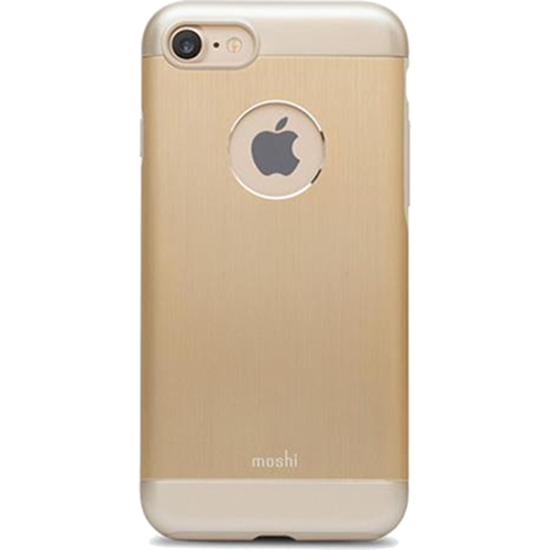 Чехол Moshi Armour для iPhone 7, iPhone 8 Satin Gold золотойЧехлы для iPhone 7<br>Moshi Armour имеет необходимые вырезы под функциональные элементы и полностью соответствует всем требованиям эффективной эксплуатации Вашего ...<br><br>Цвет товара: Золотой<br>Материал: Металл, поликарбонат