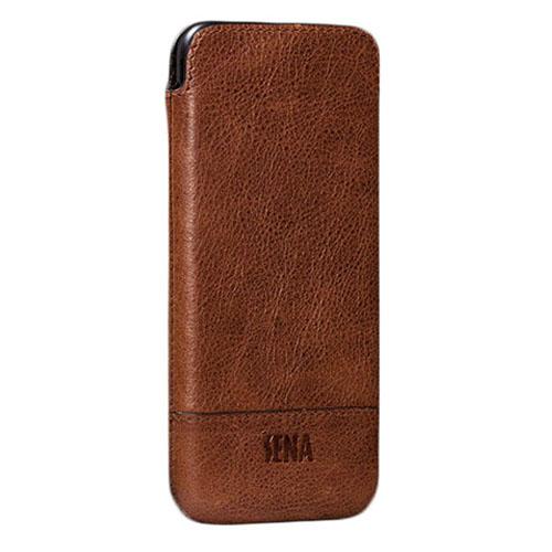 Чехол Sena Heritage UltraSlim для iPhone 6 Plus / iPhone 6s Plus / iPhone 7 Plus коричневыйЧехлы для iPhone 7 Plus<br>Sena Heritage UltraSlim из натуральной кожи - гарантия вашего безупречного стиля!<br><br>Цвет товара: Коричневый<br>Материал: Кожа, бархат
