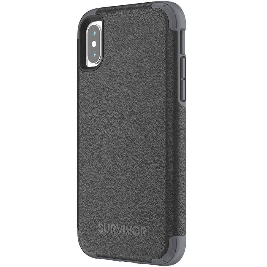 Чехол Griffin Survivor Prime для iPhone X чёрныйЧехлы для iPhone X<br>Survivor Prime защитит iPhone X и придаст его внешнему виду ещё больше шика!<br><br>Цвет товара: Чёрный<br>Материал: Поликарбонат, полиуретановая кожа