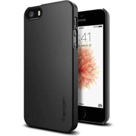 Чехол Spigen Thin Fit для iPhone 5/5S/SE чёрный (SGP-041CS20168)Чехлы для iPhone 5s/SE<br>Чехол Spigen Thin Fit для iPhone SE чёрный (SGP-041CS20168)<br><br>Цвет товара: Чёрный<br>Материал: Пластик