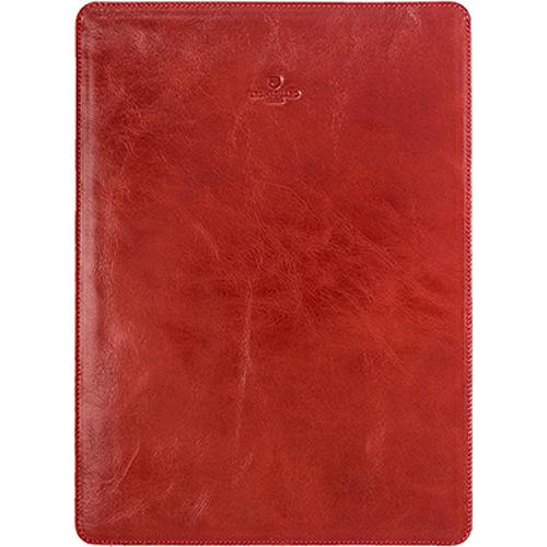 Кожаный чехол Stoneguard для MacBook Pro 13 Touch Bar красный (511)Чехлы для MacBook Pro 13 Touch Bar<br>Кожаный чехол Stoneguard Moscow для MacBook Pro 13 NEW 2016  model: 511 - Red<br><br>Цвет товара: Красный<br>Материал: Натуральная кожа, фетр