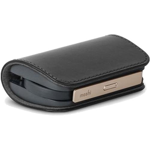 Внешний аккумулятор Moshi IonBank 3K чёрныйВнешние аккумуляторы<br><br><br>Цвет товара: Чёрный<br>Материал: Алюминий, эко-кожа
