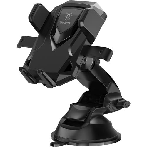 Автомобильный держатель Baseus Robot Car Bracket With Sucker чёрныйАвтодержатели<br>Автомобильный держатель Baseus Robot Car Bracket With Sucker — отличный выбор для автолюбителей!<br><br>Цвет товара: Чёрный<br>Материал: Пластик, силикон