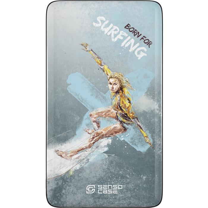Внешний аккумулятор Sensocase Share Your Passion (10000 мАч) СерфингДополнительные и внешние аккумуляторы<br>Расскажите о своем увлечении всему миру!<br><br>Цвет товара: Разноцветный<br>Материал: Пластик, силикон
