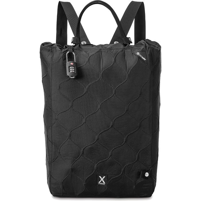 Сумка-рюкзак PacSafe Travelsafe X25 чёрнаяСумки для ноутбуков<br>Отправляясь в путешествие вы можете доверить сохранность вещей аксессуарам от Pacsafe.<br><br>Цвет товара: Чёрный<br>Материал: Текстиль, металл