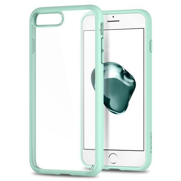 Чехол Spigen Ultra Hybrid 2 для iPhone 7 Plus (Айфон 7 Плюс) мятный (SGP-043CS21138)Чехлы для iPhone 7 Plus<br>Ultra Hybrid 2 - идеальный чехол тех, кто ценит максимальную функциональность!<br><br>Цвет товара: Мятный<br>Материал: Термопластичный полиуретан, поликарбонат