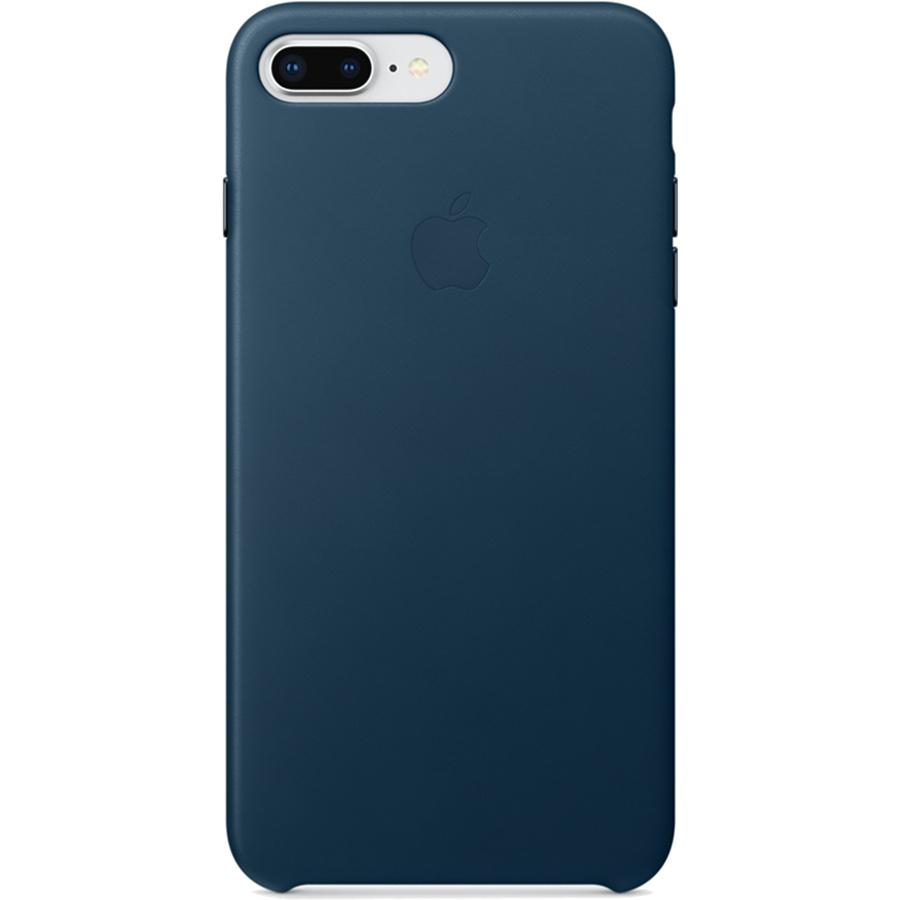 Кожаный чехол Apple Leather Case для iPhone 7 Plus / 8 Plus «космический синий» (Cosmos Blue)Чехлы для iPhone 7 Plus<br>Ни один чехол в мире не сочетается с мощным iPhone лучше, чем оригинальный Apple Case.<br><br>Цвет товара: Синий<br>Материал: Натуральная кожа