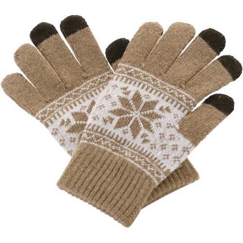 Перчатки шерстяные Beewin Smart Gloves для iPhone/iPod/iPad/etc бежевые (размер L) от iCases