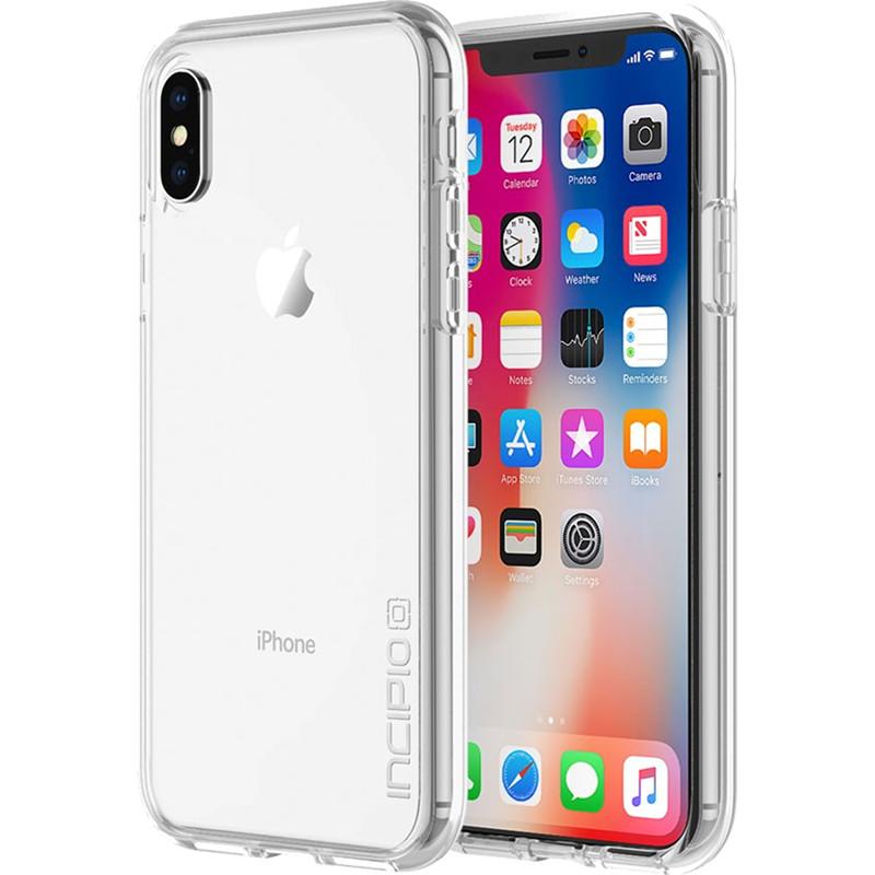 Чехол Incipio Octane Pure для iPhone X кристально-прозрачныйЧехлы для iPhone X<br>Двухслойный чехол состоит из поликарбонатной, жёсткой накладки Plextonium™ и гибкого, абсорбирующего бампера Flex2O™.<br><br>Цвет товара: Прозрачный<br>Материал: Поликарбонат, термопластичный полиуретан