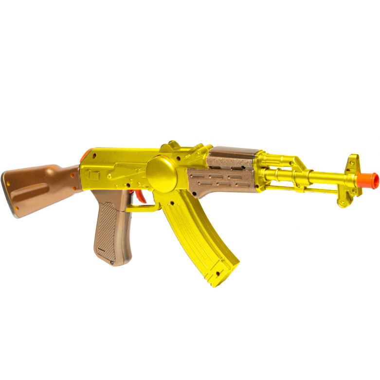 Пистолет для виртуальной реальности AR Game Gun «АК-47»Игрушки управляемые смартфоном<br>AR Game Gun создает реальность в любом месте, в любое время!<br><br>Цвет товара: Золотой<br>Материал: Пластик