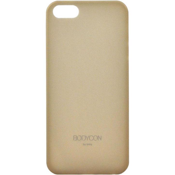 Чехол Uniq Bodycon для iPhone 5S/SE золотистыйЧехлы для iPhone 5/5S/SE<br>Тонкий, словно лепесток цветка, и легкий словно пушинка!<br><br>Цвет товара: Золотой<br>Материал: Поликарбонат, силикон