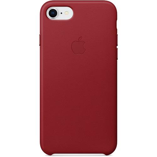Кожаный чехол Apple Leather Case для iPhone 7/8 красныйЧехлы для iPhone 7<br>Ни один чехол в мире не сочетается с мощным Айфон лучше, чем оригинальный Apple Case.<br><br>Цвет товара: Красный<br>Материал: Натуральная кожа