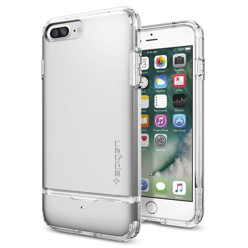 Чехол Spigen Flip Armor для iPhone 7 Plus (Айфон 7 Плюс) серебристый (SGP-043CS20822)Чехлы для iPhone 7 Plus<br>Чехол Spigen для iPhone 7 Plus Flip Armor серебристый (043CS20822)<br><br>Цвет товара: Серебристый<br>Материал: Поликарбонат, полиуретан