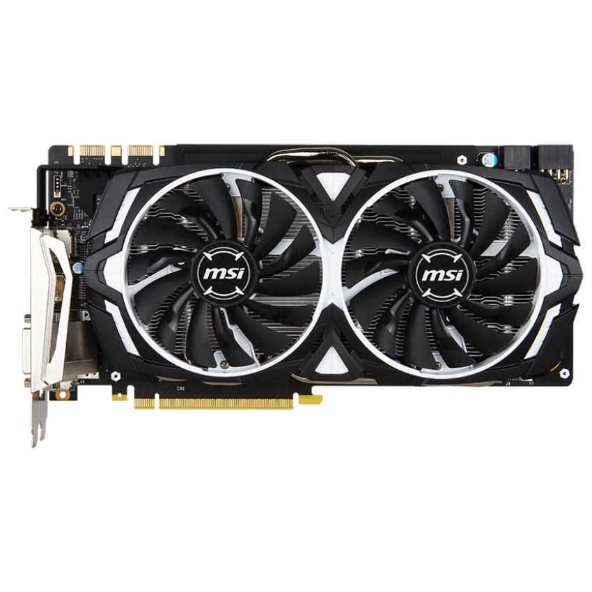 Видеокарта MSI GeForce GTX 1080 Armor 8G, GDDR5X 8 Гб, 10010 МГц