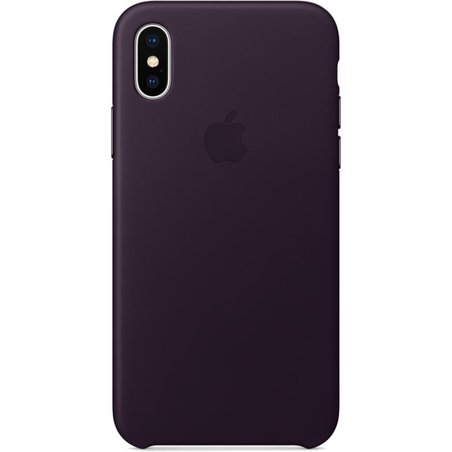 Кожаный чехол Apple Leather Case для iPhone X баклажановый (Dark Aubergine)Чехлы для iPhone X<br>Кожаный чехол от Apple — отличное дополнение к вашему iPhone X.<br><br>Цвет: Фиолетовый<br>Материал: Натуральная кожа