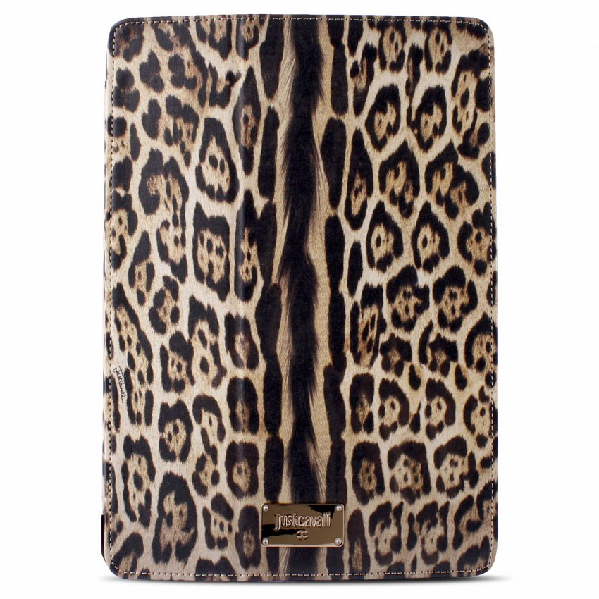 Чехол Puro Just Cavalli Leopard для iPad Air коричневый