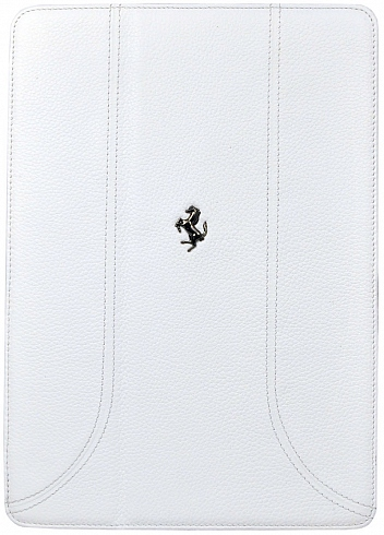 Чехол Ferrari FF-collection для iPad 9.7 (2017) / iPad Air белого цветаЧехлы для iPad Air<br>Чехол Ferrari для iPad Air FF-Collection White<br><br>Цвет товара: Белый<br>Материал: Эко-кожа, поликарбонат