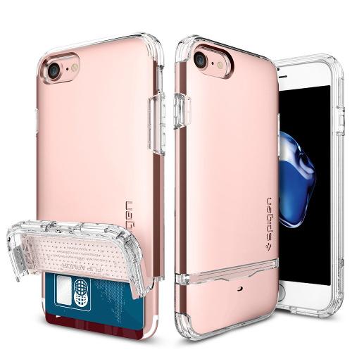 Чехол Spigen Flip Armor для iPhone 7 (Айфон 7) розовое золото (SGP-042CS20819)Чехлы для iPhone 7<br>Чехол Spigen Flip Armor для iPhone 7 (Айфон 7) розовое золото (SGP-042CS20819)<br><br>Цвет товара: Розовое золото<br>Материал: Поликарбонат, полиуретан