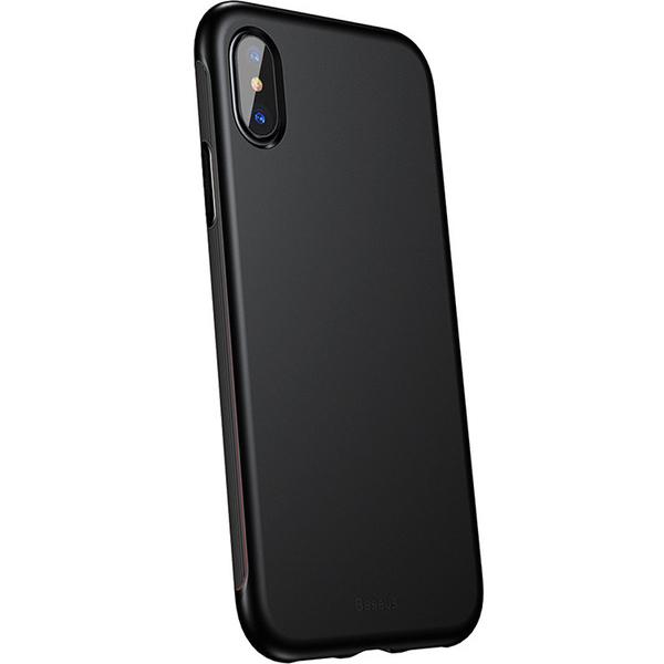 Чехол Baseus Bumper Case для iPhone X чёрныйЧехлы для iPhone X<br>Baseus Bumper Case сочетает в себе дизайн, функциональность и надёжность.<br><br>Цвет товара: Чёрный<br>Материал: Поликарбонат, полиуретан