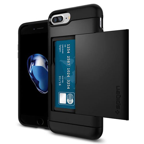 Чехол Spigen Slim Armor CS для iPhone 7 Plus чёрный (043CS20528)Чехлы для iPhone 7/7 Plus<br><br><br>Цвет товара: Чёрный<br>Материал: Поликарбонат, термопластичный полиуретан