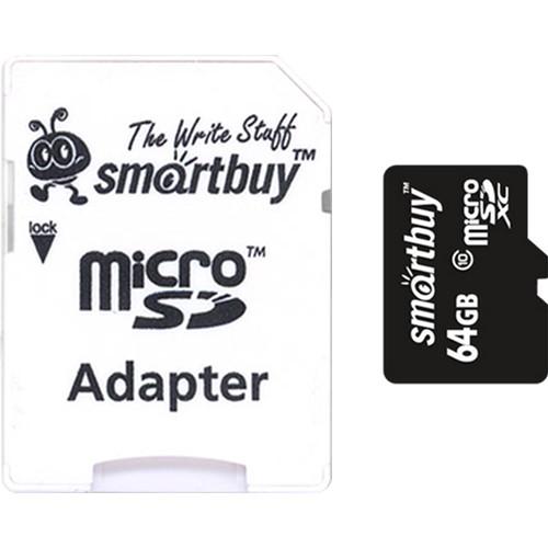 Карта памяти SmartBuy Pro microSDXC 64 Гб (80/90 МБ/с) UHS-1 Class 10 с адаптером SDКарты памяти<br>Компания Smart Buy в полной мере соответствует всем требованиям, предъявляемым к микрофлешкам.<br><br>Цвет: Чёрный<br>Материал: Пластик<br>Модификация: 64 Гб