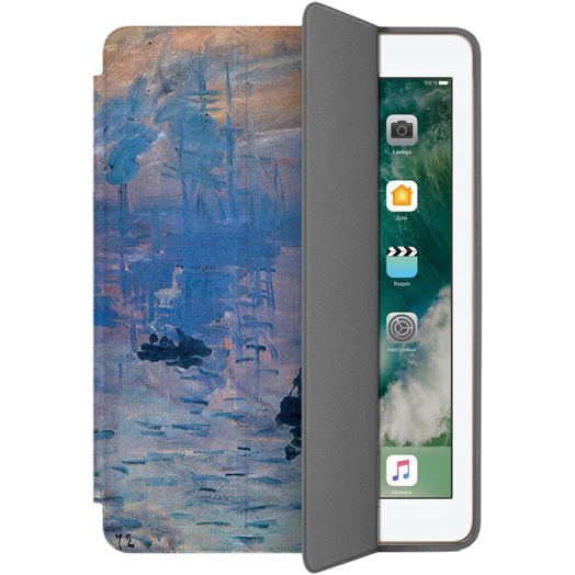 Чехол Muse Smart Case для iPad 9.7 (2017/2018) Восход СолнцаЧехлы для iPad 9.7<br>Чехлы Muse — это индивидуальность, насыщенность красок, ультрасовременные принты и надёжность.<br><br>Цвет: Синий<br>Материал: Поликарбонат, полиуретановая кожа