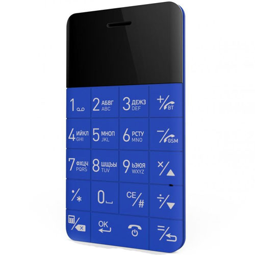 Ультратонкий анти-смартфон Elari CardPhone синийАнтисмартфоны<br>Ультратонкий анти-смартфон Elari CardPhone синий<br><br>Цвет товара: Синий<br>Материал: Пластик