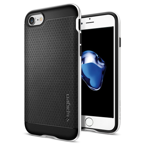 Чехол Spigen Neo Hybrid для iPhone 7, iPhone 8 серебристый (SGP-042CS20520)Чехлы для iPhone 7<br>Чехол Spigen Neo Hybrid для iPhone 7 (Айфон 7) серебристый (SGP-042CS20520)<br><br>Цвет товара: Серебристый<br>Материал: Поликарбонат, полиуретан