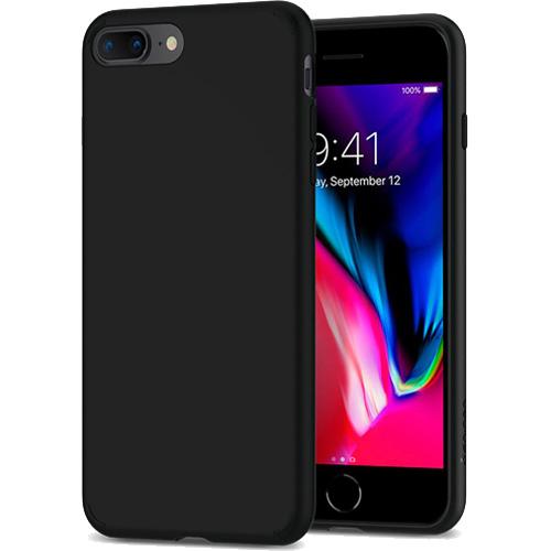 Чехол Spigen Liquid Crystal для iPhone 8 Plus / 7 Plus чёрный матовый (055CS22234)Чехлы для iPhone 7 Plus<br>Гибкий чехол из термопластичного полиуретана ТПУ даёт превосходную амортизацию при любых шоковых нагрузках.<br><br>Цвет товара: Чёрный<br>Материал: Термопластичный полиуретан