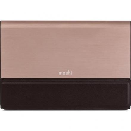 Внешний аккумулятор Moshi IonBank 5K бронзовыйВнешние аккумуляторы<br>Moshi IonBank 5K — почти безупречный аксессуар для ваших гаджетов!<br><br>Цвет товара: Розовое золото<br>Материал: Металл, кожа