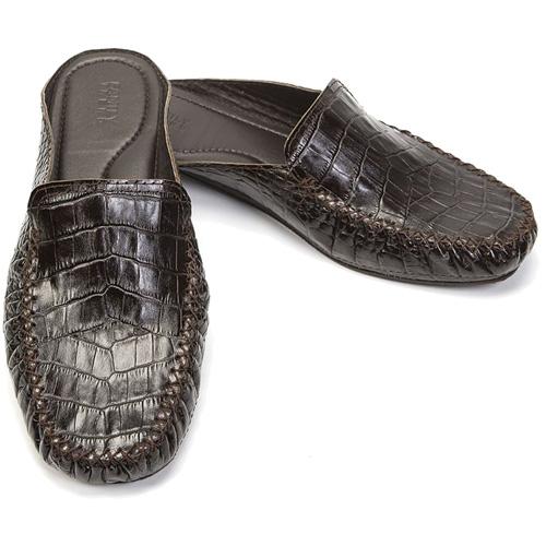 Кожаные тапочки для дома и улицы RayBatoff (7506/224) тёмно-коричневый крокодил (размер 44)Одежда и обувь<br>Стильные и долговечные тапочки RayBatoff из высококачественной натуральном кожи.<br><br>Цвет товара: Коричневый<br>Материал: Натуральная кожа