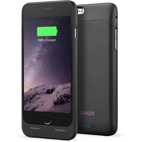 Чехол-аккумулятор Anker Ultra-Slim Battery Case для iPhone 6/6s (A1405011) чёрныйЧехлы для iPhone 6/6s<br>Чехол-аккумулятор Anker Ultra-Slim Battery Case для iPhone 6/6s (A1405011) чёрный<br><br>Цвет товара: Чёрный<br>Материал: Пластик