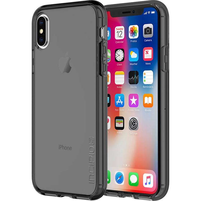Чехол Incipio Octane Pure для iPhone X дымчатыйЧехлы для iPhone X<br>Двухслойный чехол состоит из поликарбонатной, жёсткой накладки Plextonium™ и гибкого, абсорбирующего бампера Flex2O™.<br><br>Цвет товара: Серый<br>Материал: Поликарбонат, термопластичный полиуретан