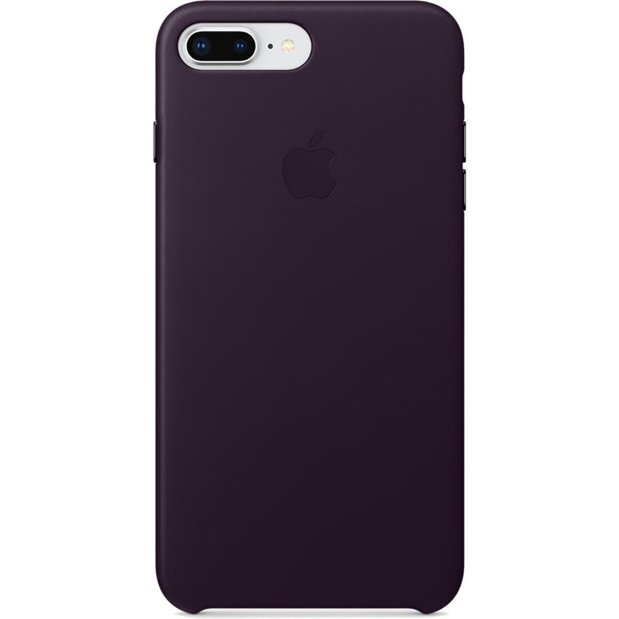 Кожаный чехол Apple Leather Case для iPhone 7 Plus / 8 Plus баклажановый (Dark Aubergine)Чехлы для iPhone 7 Plus<br>Ни один чехол в мире не сочетается с мощным Айфон лучше, чем оригинальный Apple Case.<br><br>Цвет товара: Фиолетовый<br>Материал: Натуральная кожа