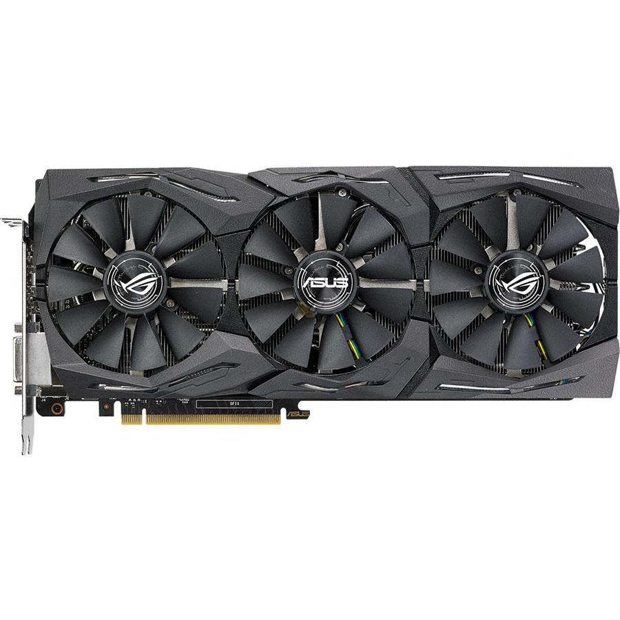 Видеокарта Asus GeForce GTX 1080, GDDR5X 8 ГБ, 11 Гбит/с (ROG-STRIX-GTX1080-A8G-11GBPS)
