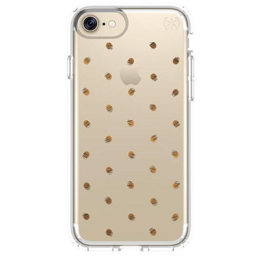 Чехол Speck Presidio Clear + Print для iPhone 7 (Айфон 7) серебристый/прозрачный