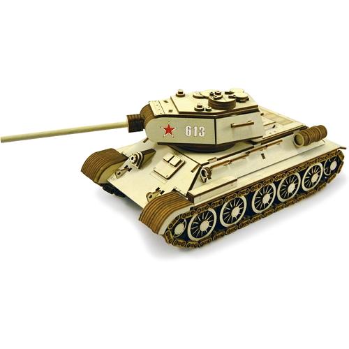 Конструктор 3D Lemmo деревянный Танк «Т-34-85»3D пазлы, конструкторы, головоломки<br>Конструктор Lemmo 3D деревянный, подвижный - Танк Т-34-85<br><br>Цвет товара: Бежевый<br>Материал: Натуральное дерево