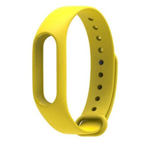 Ремешок для браслета Xiaomi Mi Band 2 жёлтыйРемешки для браслетов<br>Ремешок Xiaomi Mi Band 2 Желтый<br><br>Цвет товара: Жёлтый<br>Материал: Силикон