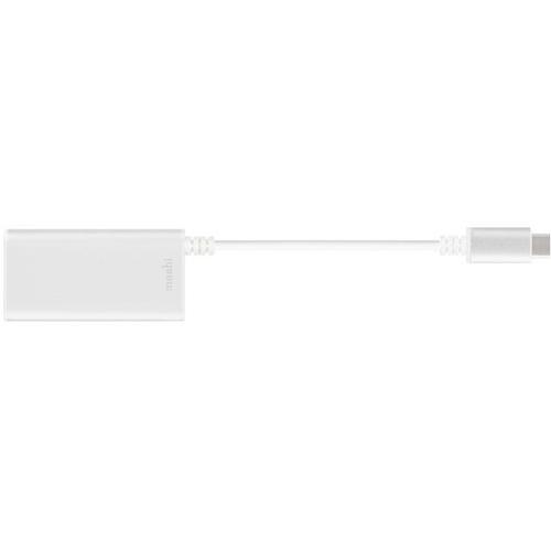 Переходник Moshi USB-C to Gigabit Ethernet серебристыйКабели Type-C и другие<br>Адаптер Moshi USB-C to Gigabit Ethernet обеспечивает Macbook, оснащённый портом USB Type-C быстрым и надёжным подключением к сети интернет.<br><br>Цвет товара: Серебристый<br>Материал: Алюминий