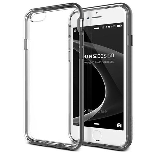 Чехол Verus New Crystal Bumper для iPhone 6S/6 Plus стальной (904482)