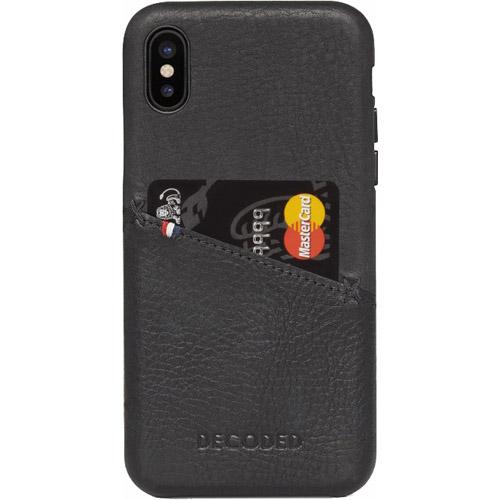 Чехол Decoded Leather Case для iPhone X чёрныйЧехлы для iPhone X<br>Decoded Leather Case — это высококлассный чехол ручной работы, изготовленный из качественной натуральной кожи.<br><br>Цвет товара: Чёрный<br>Материал: Натуральная кожа (наппа), пластик