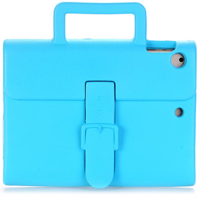 Чехол DoDo Briefcase Kids Shockproof для iPad mini 1/2/3/4 голубойЧехлы для iPad mini 1/2/3<br><br><br>Цвет товара: Голубой<br>Материал: Силикон