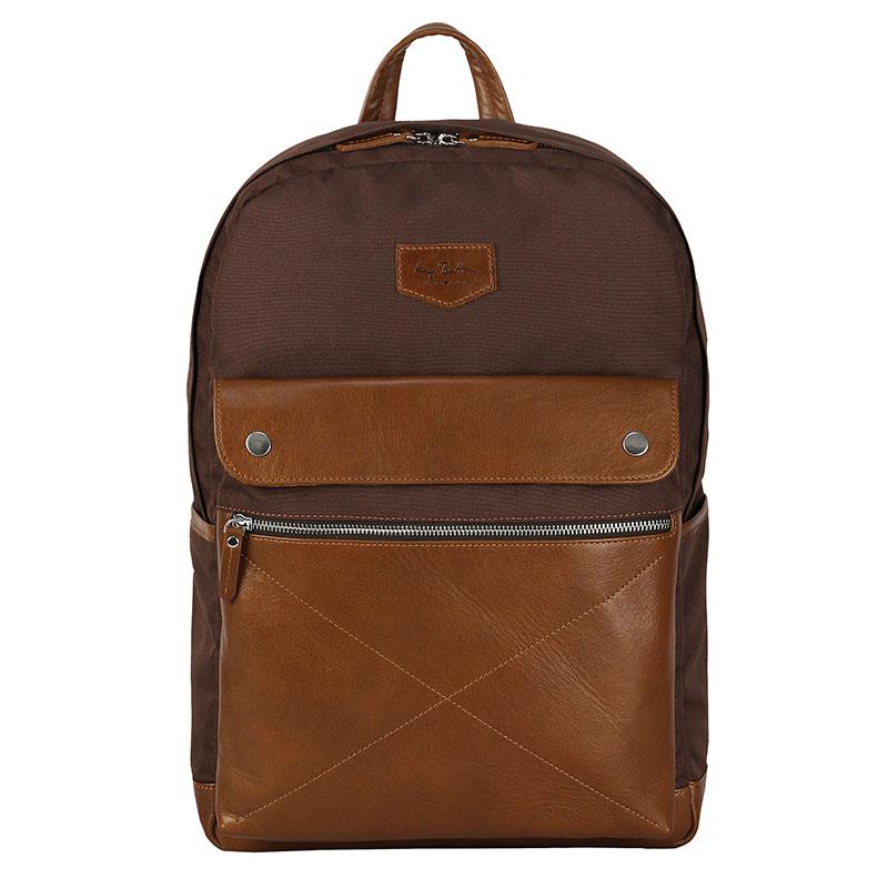 Рюкзак Ray Button Bergen для MacBook 15 коричневый/светло-коричневыйРюкзаки<br>Даже при активном ношении Ray Button Bergen сохранит свой первозданный вид.<br><br>Цвет товара: Коричневый<br>Материал: Натуральная кожа, нейлон