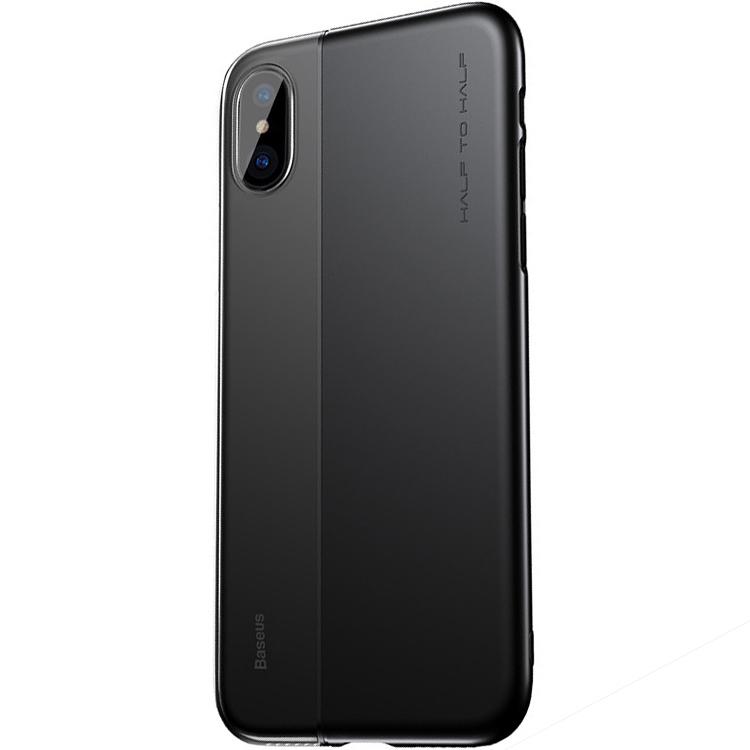 Чехол Baseus Half to Half Case для iPhone X чёрный/прозрачныйЧехлы для iPhone X<br>С Baseus Half to Half Case смартфону «по плечу» практически любое приключение!<br><br>Цвет: Чёрный<br>Материал: Поликарбонат, полиуретан