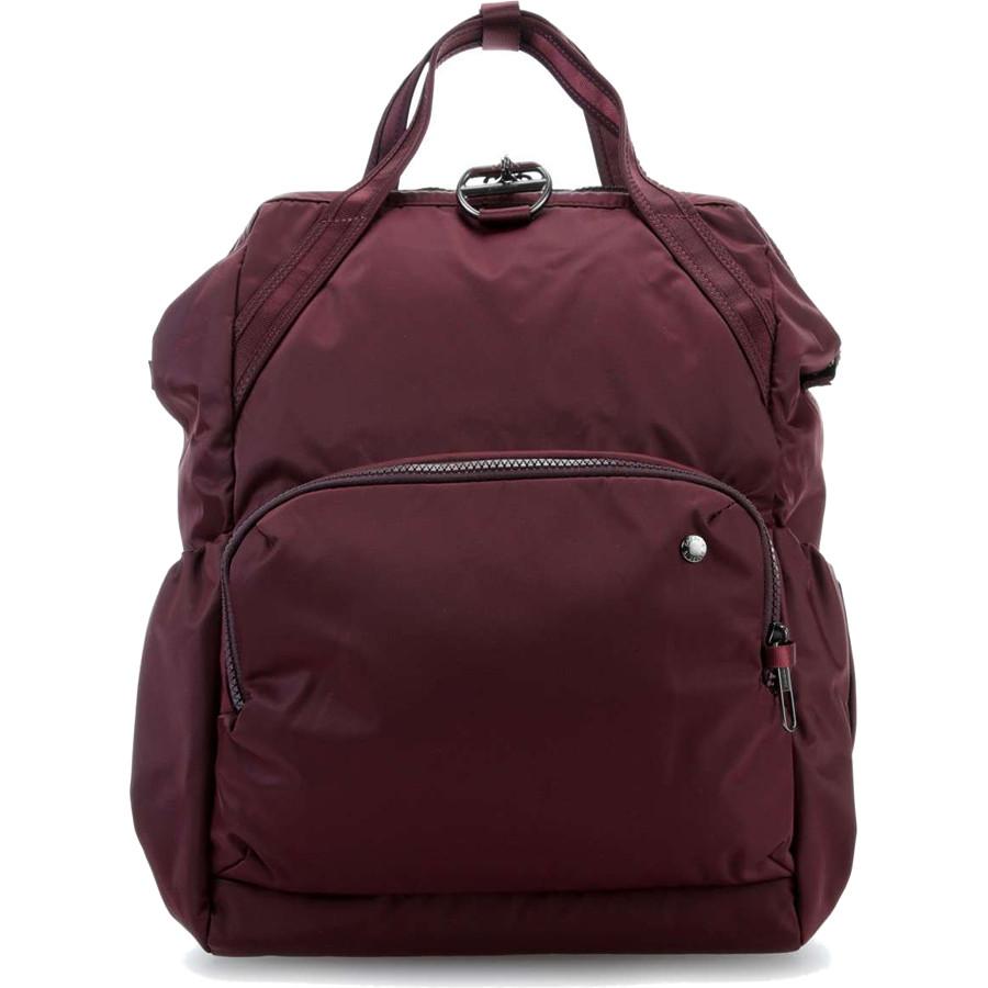 Рюкзак Pacsafe Citysafe CX Anti-Theft Backpack бордовый MerlotРюкзаки<br>Рюкзак-сумка Pacsafe Citysafe CX просто создан для путешествий налегке и покорения городских джунглей.<br><br>Цвет товара: Красный<br>Материал: 100D нейлон саржа; подклада: 75D полиэстер