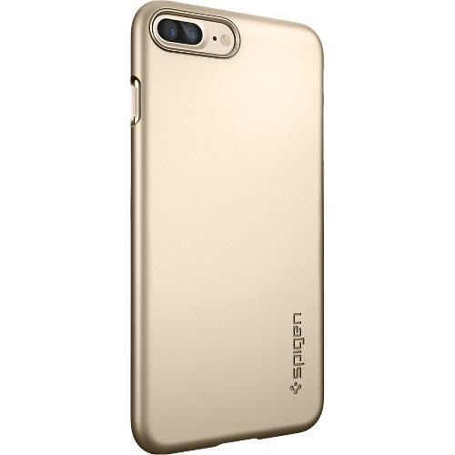 Чехол Spigen Thin Fit для iPhone 7 Plus (Айфон 7 Плюс) золотистый (SGP-043CS20734)Чехлы для iPhone 7 Plus<br>Ультратонкий и невероятно лёгкий, словно пёрышко, чехол Spigen Thin Fit практически не прибавит объёма и веса мощному смартфону.<br><br>Цвет товара: Золотой<br>Материал: Поликарбонат